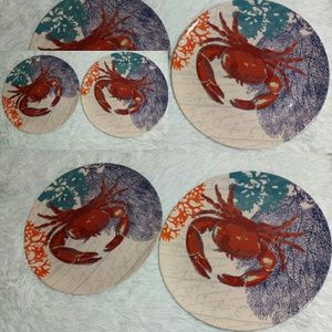 Red Crab Cake/Seafood Melamine Plate